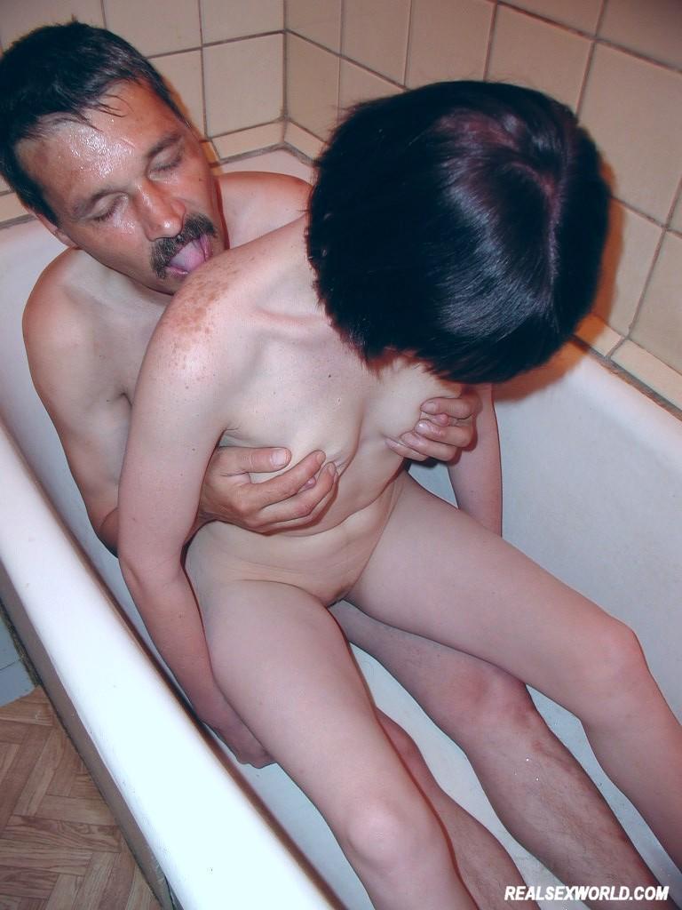 Hardcore shower sex