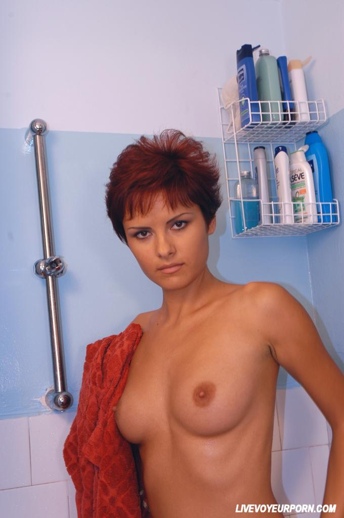 Monique in shower nude-8513