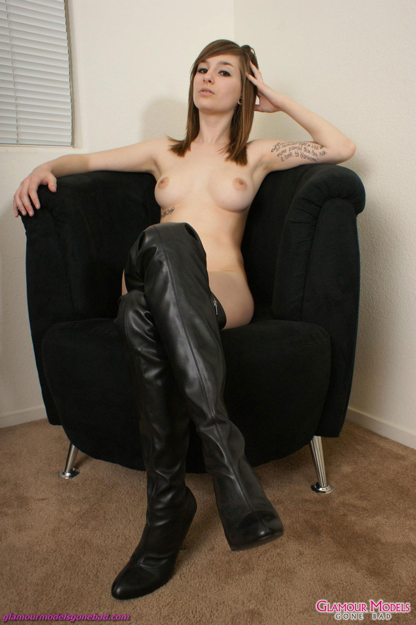 pussy in thigh high boots