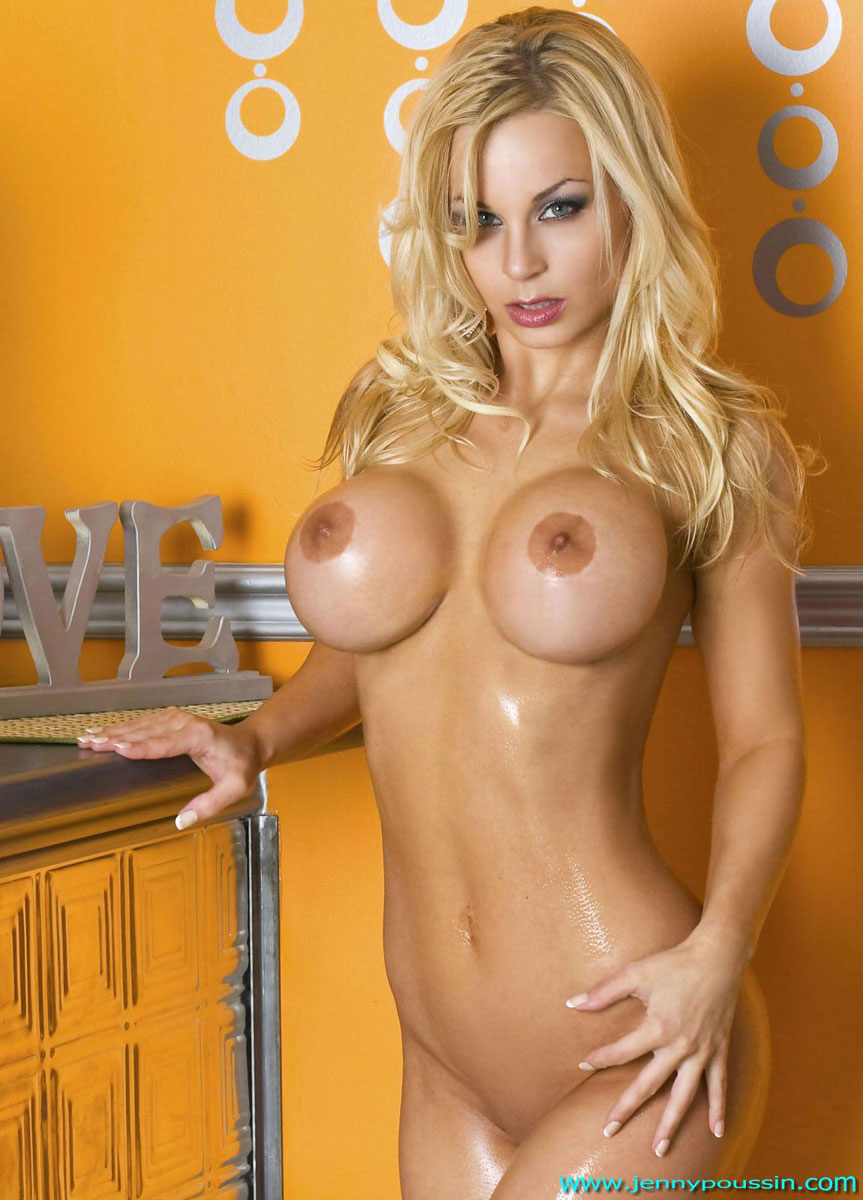 Jenny Poussin Shows Off Her Oiled Up Tight Body 4145