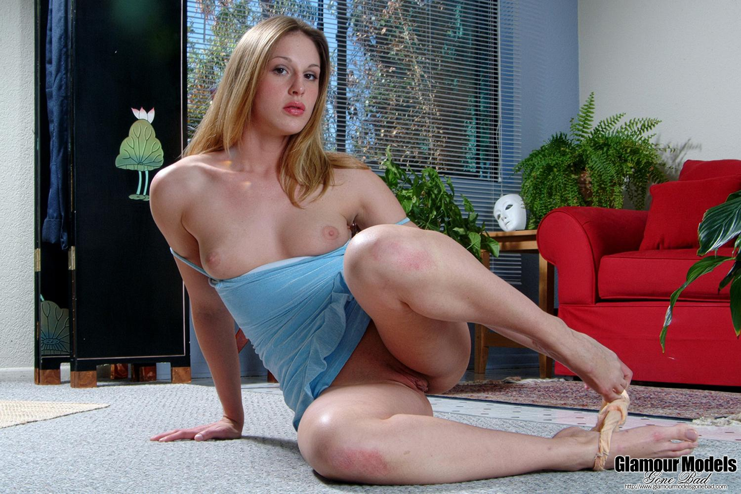 Lauren Phoenix In A Blue Dress