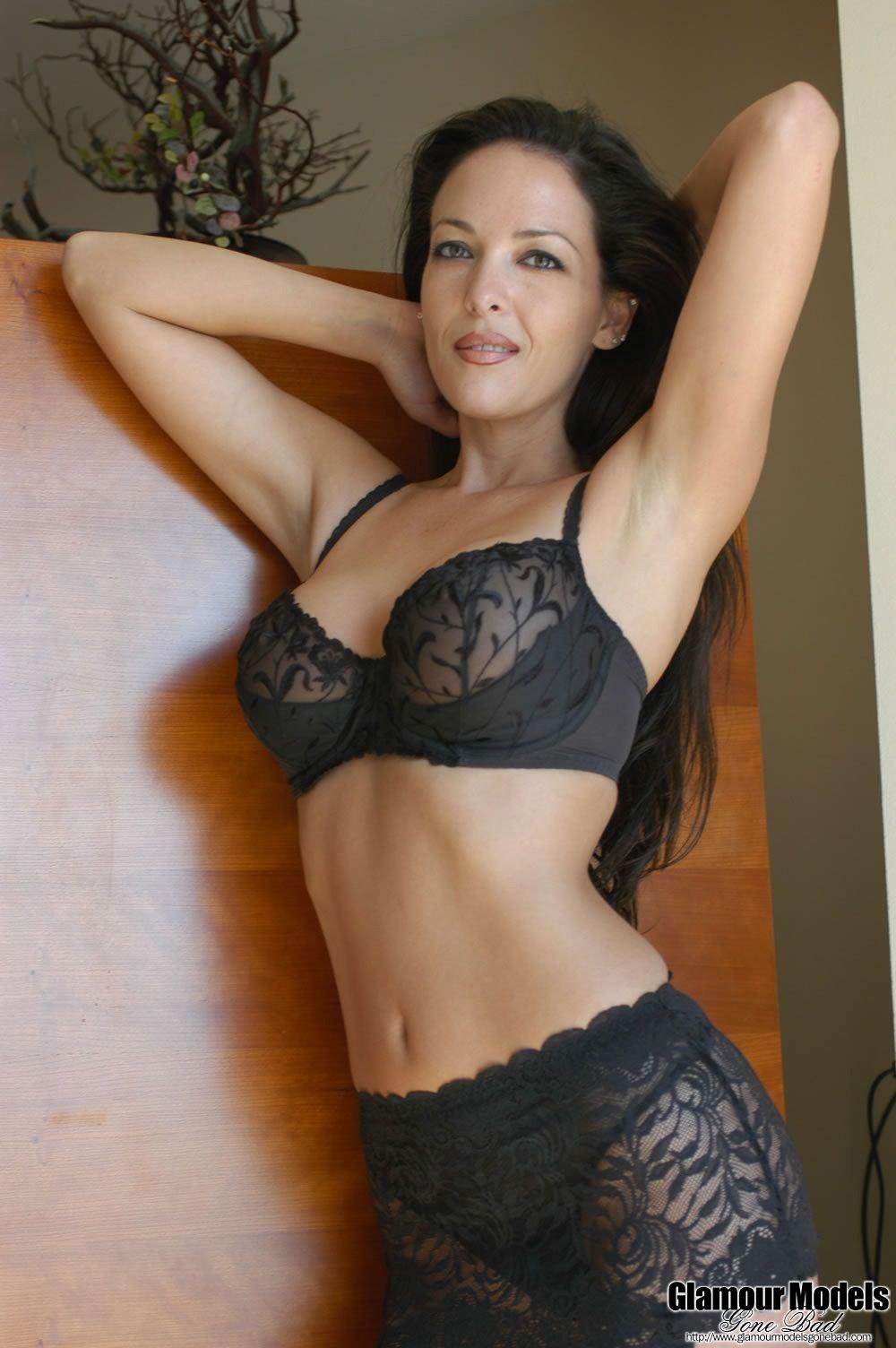 Adriana Strips Her Mesh Black Lingerie 4878-4533