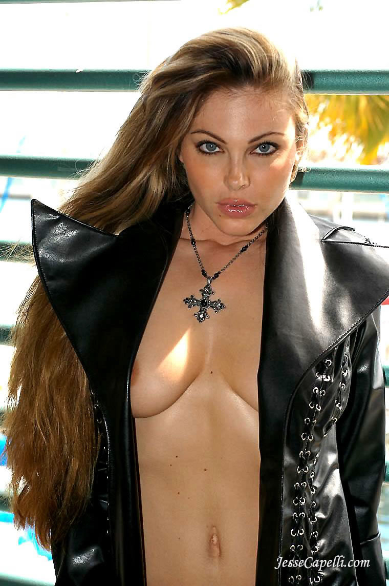 Jesse Capelli Nude jesse capelli in a black leather coat 4965