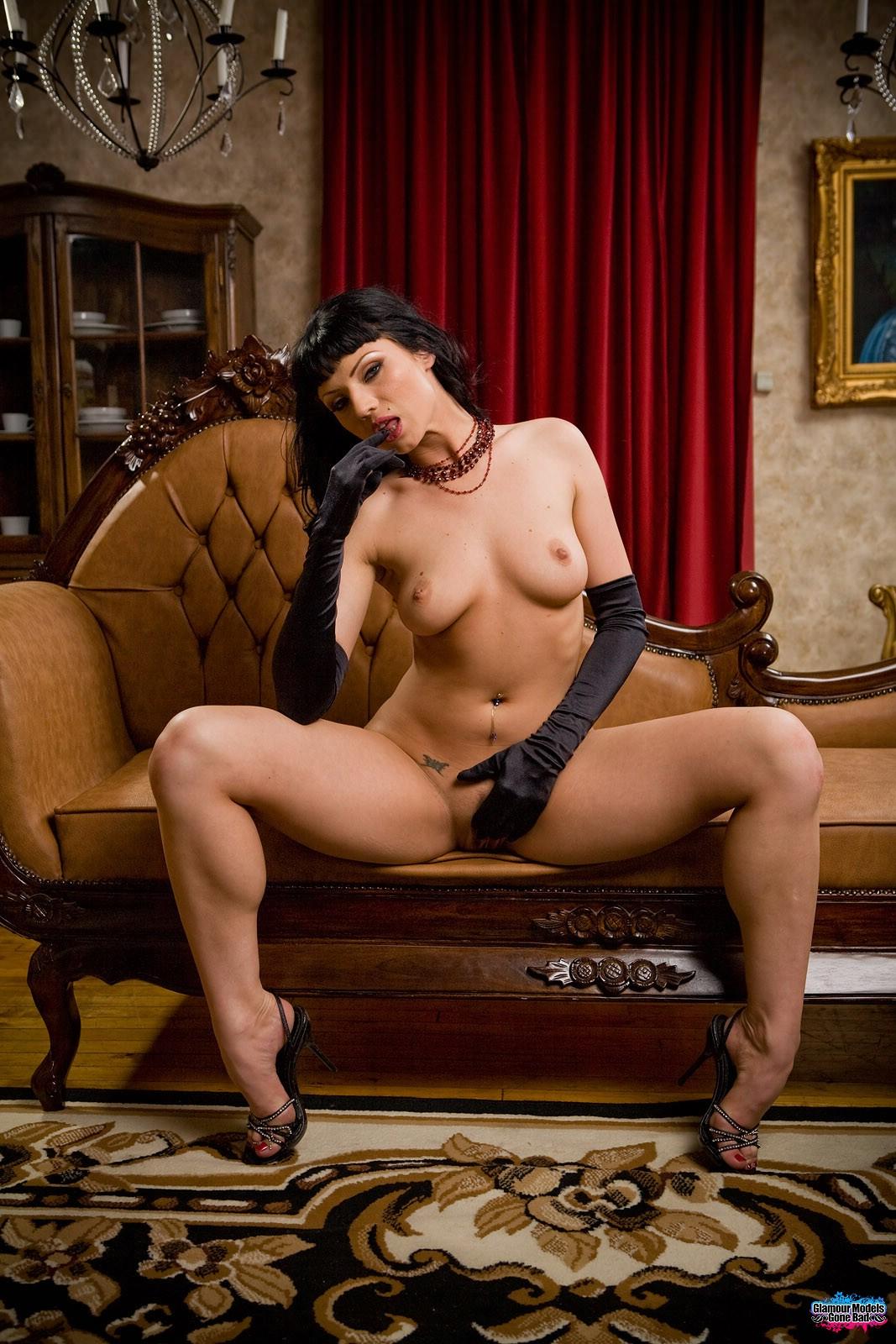 Ava Rose In Black Satin 5533-8275