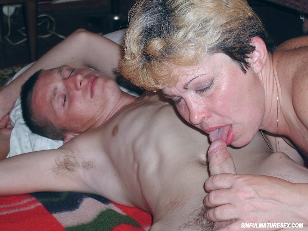 Hot Granny Fucks A Young Guy