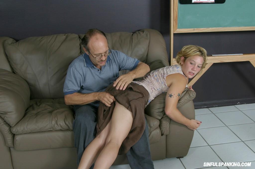 Blonde Girl Gets Spanked Hard 5621-9049