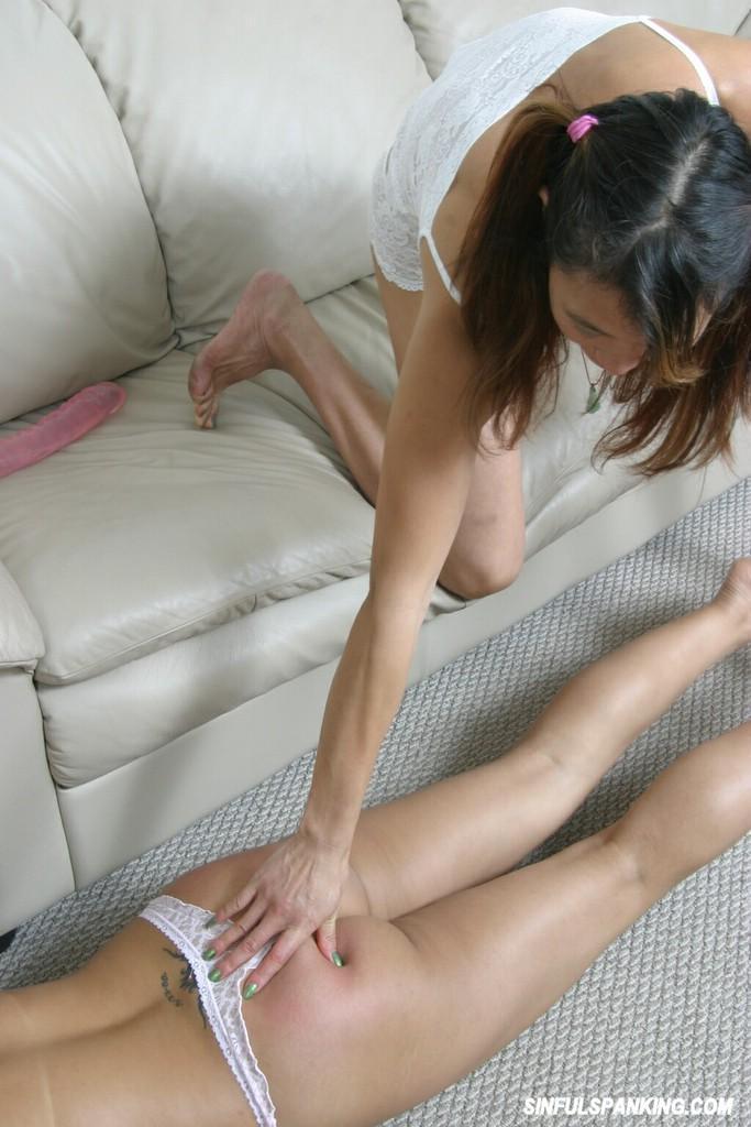 Sexy brunette ass spanking consider, that