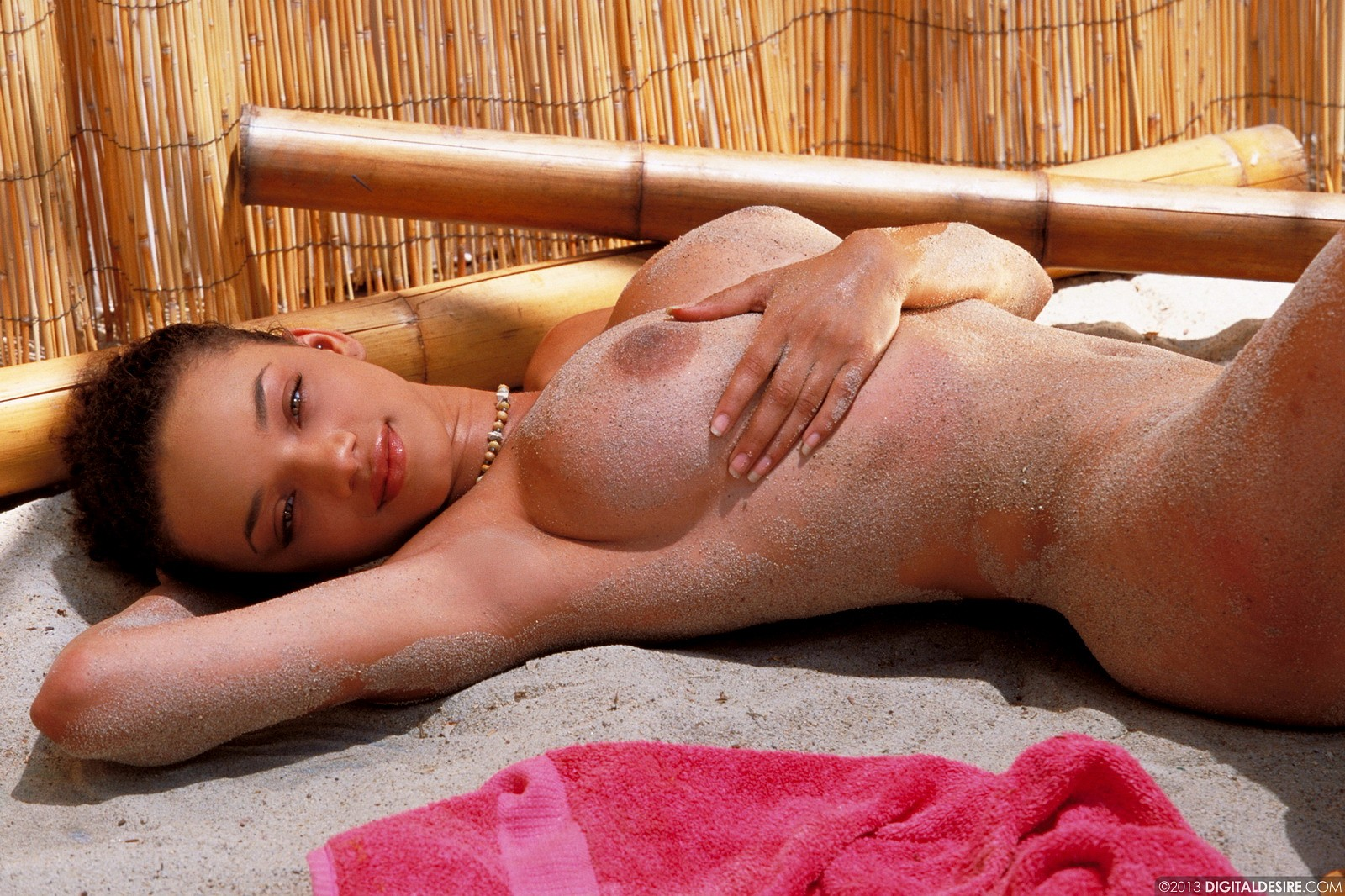 Gia Lashay Gets Sandy At The Beach