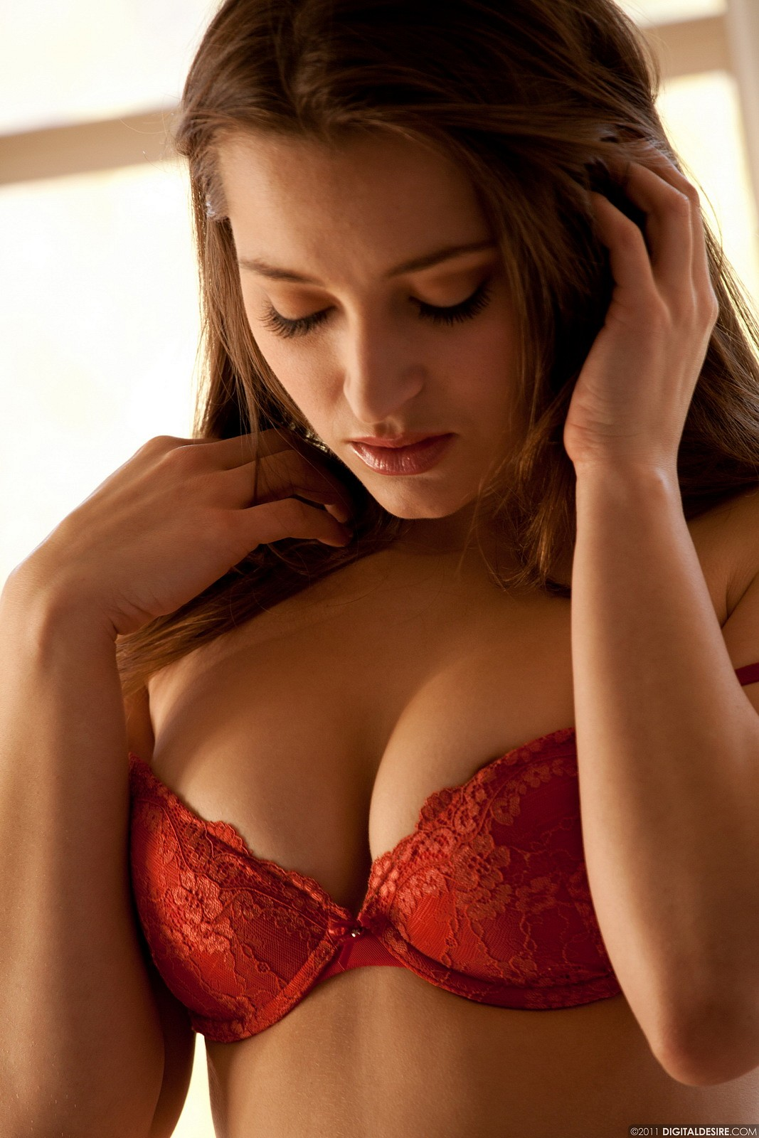 Dani Daniels Takes Off Her Red Top 692-8620