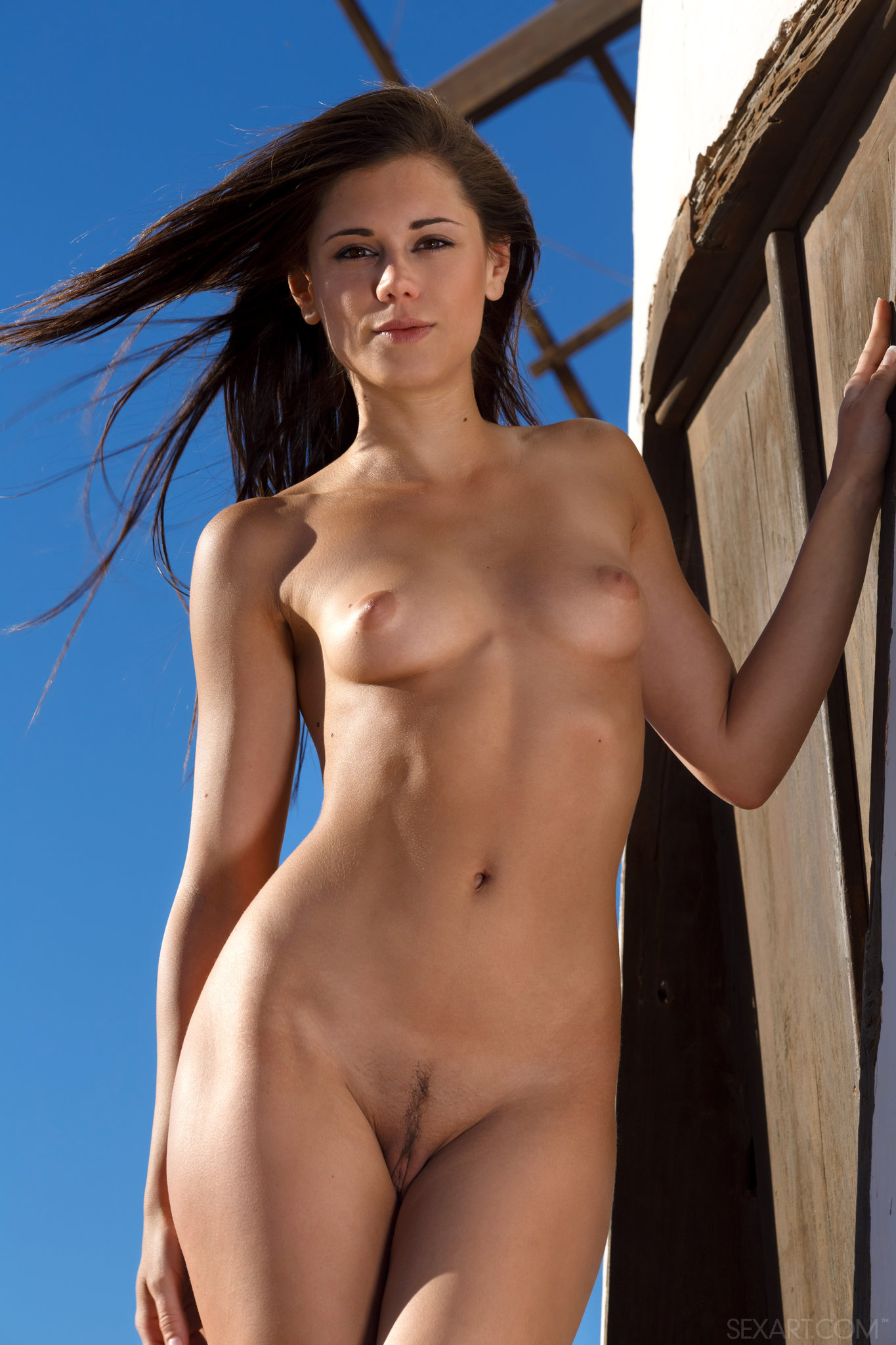 Naked girls with landing strips pity, that
