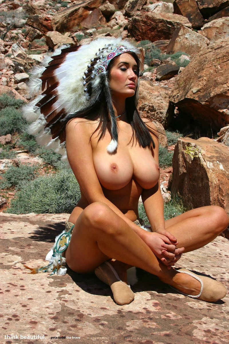 Aboriginal nude woman