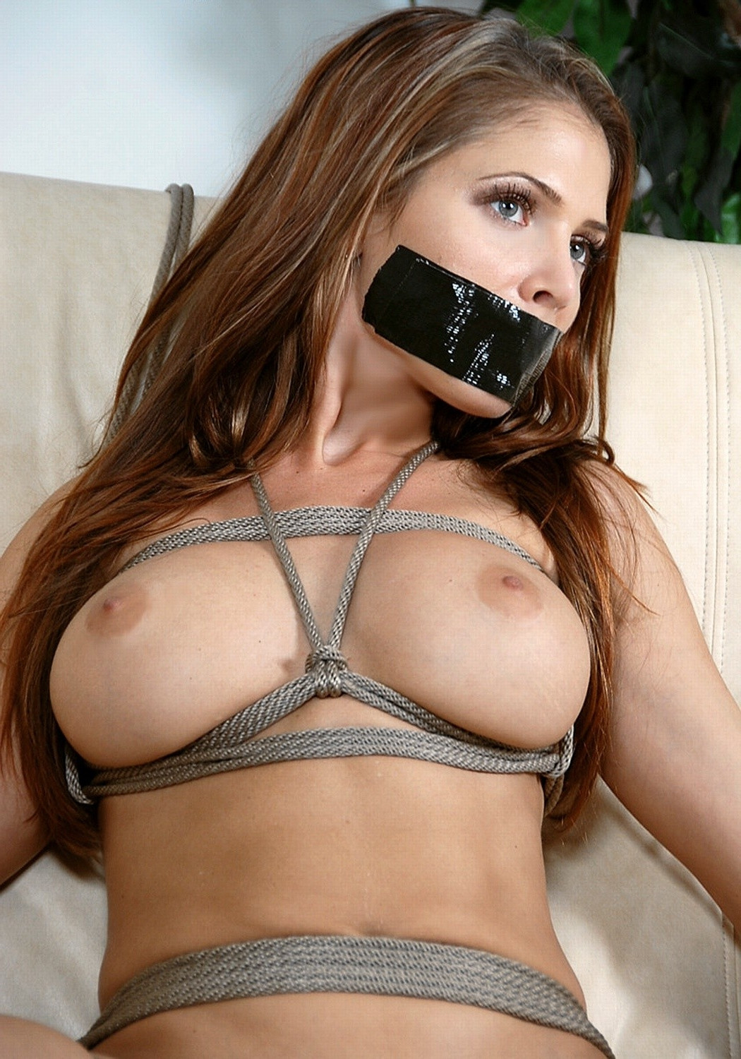 Nude Girl Gagged