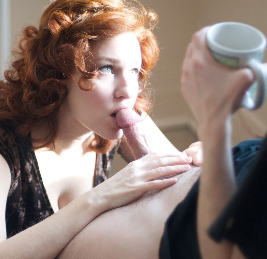 Coffee and a blowjob