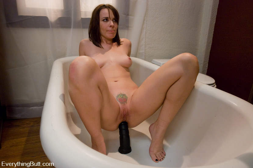 Sitting on a dildo