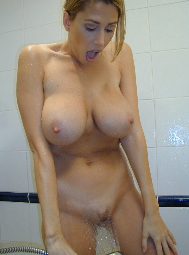 Milf shower blonde