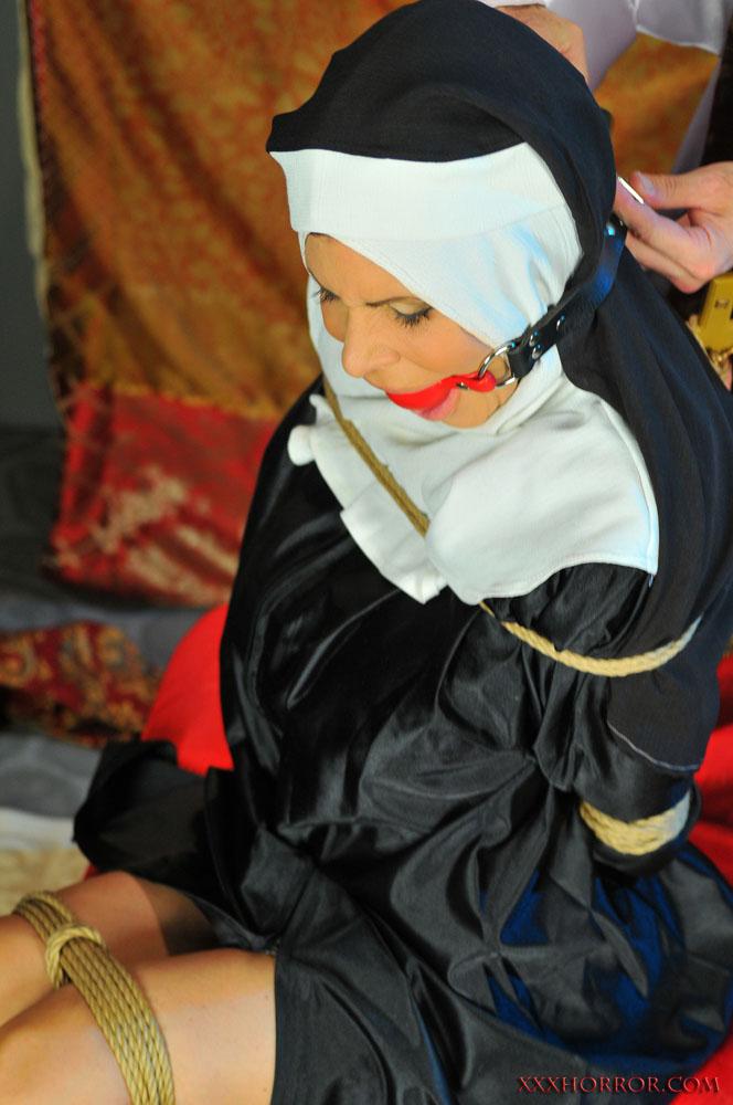Tied Up Ashley Renee Wearing Nun Costume 18737-9965