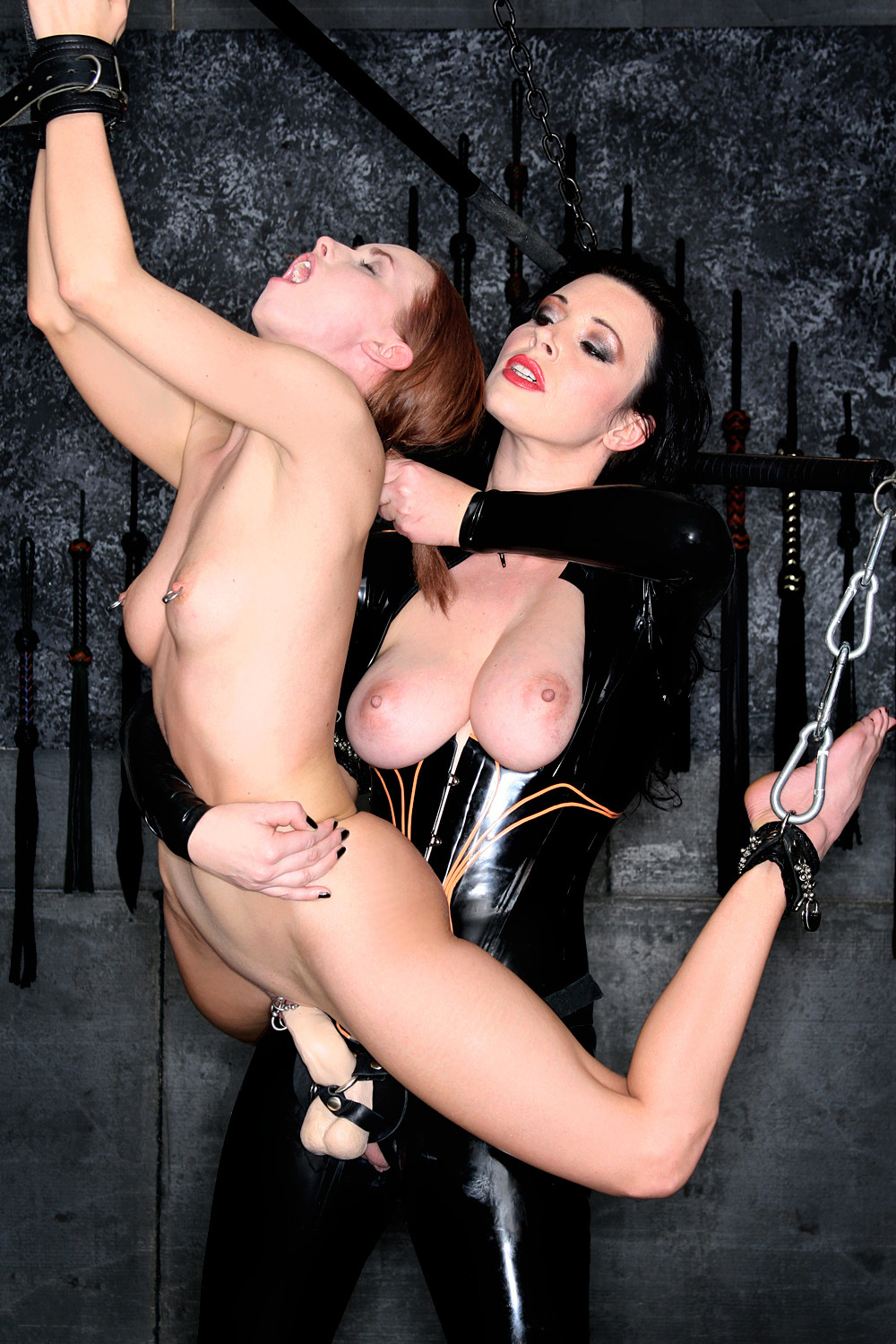 image Tied up bdsm bondage babe pussy pleased