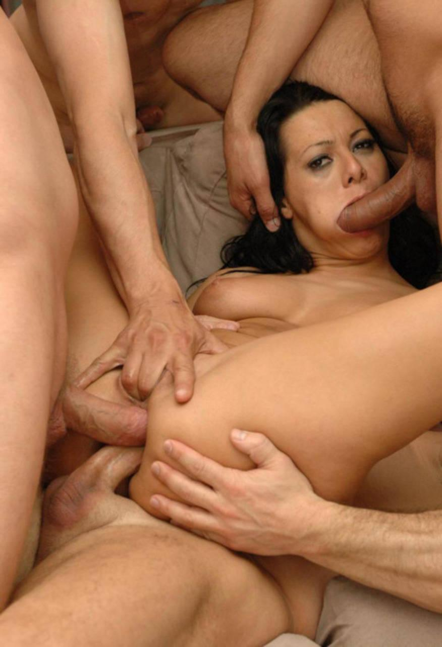 image Stunning brunette whore fucked by big cock old grandad